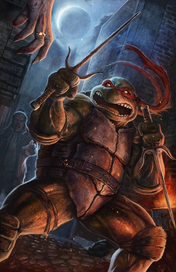 TMNT vs Zombies: Raphael by pinkhavok