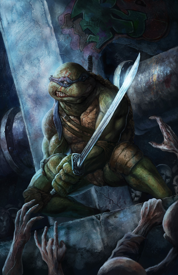 TMNT vs Zombies: Leonardo by pinkhavok