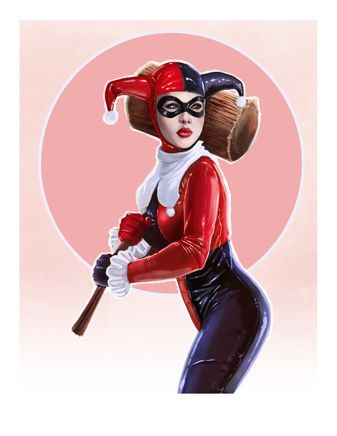 Harley Quinn Pin-up by pinkhavok