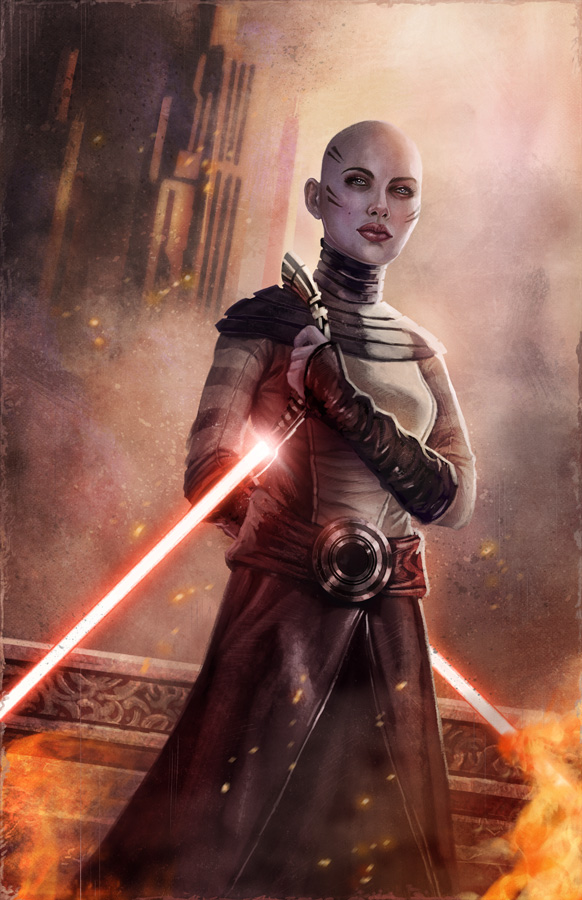 Asajj Ventress by pinkhavok