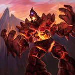 Stone Forged Fire Golem
