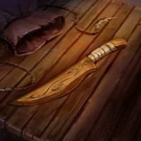 Wooden Dagger by pinkhavok
