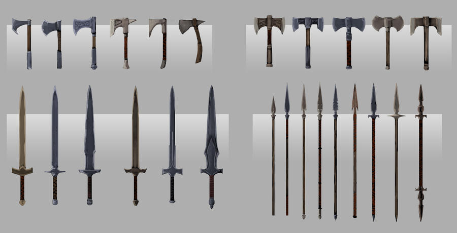 Tempest master weapons concepts by pinkhavok