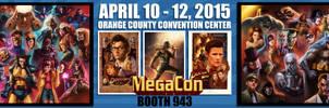 I'll be at MegaCon 2015 April 10th-12th!
