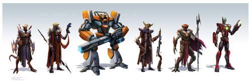 Alien Bounty Hunters by pinkhavok