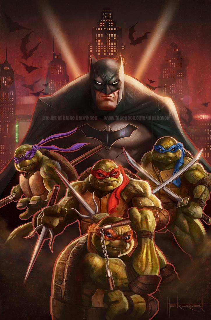 Batman/Teenage Mutant Ninja Turtles by pinkhavok on DeviantArt