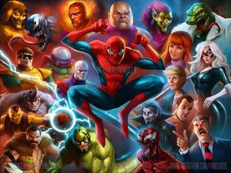90's Spider-Man Animated by pinkhavok