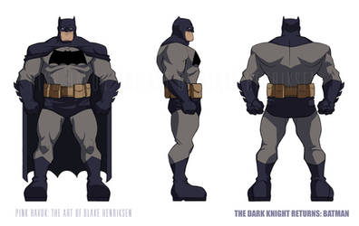 The Dark Knight Returns Animated: Batman Suit 02 by pinkhavok