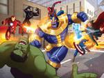 The Avengers vs Thanos