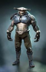 Alien HammerHead Soldier