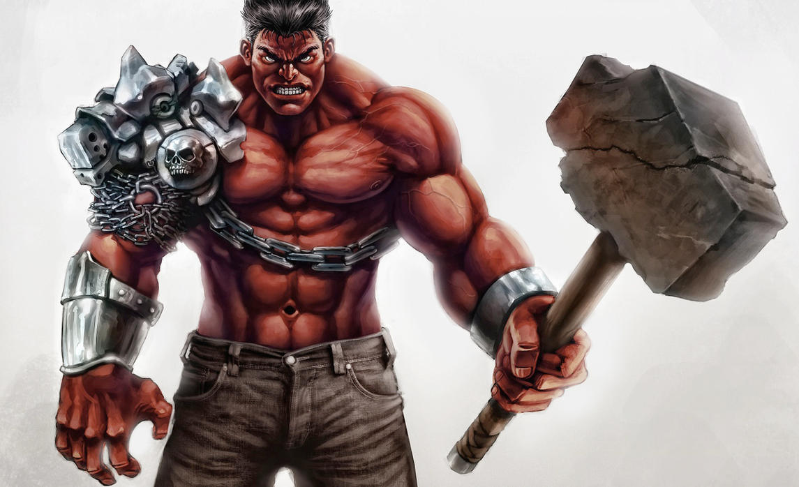 Red Hulk in Azgard by Pyroow