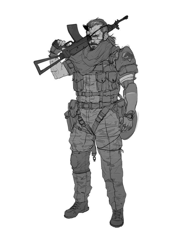Big Boss -- Venom Snake by Pyroow