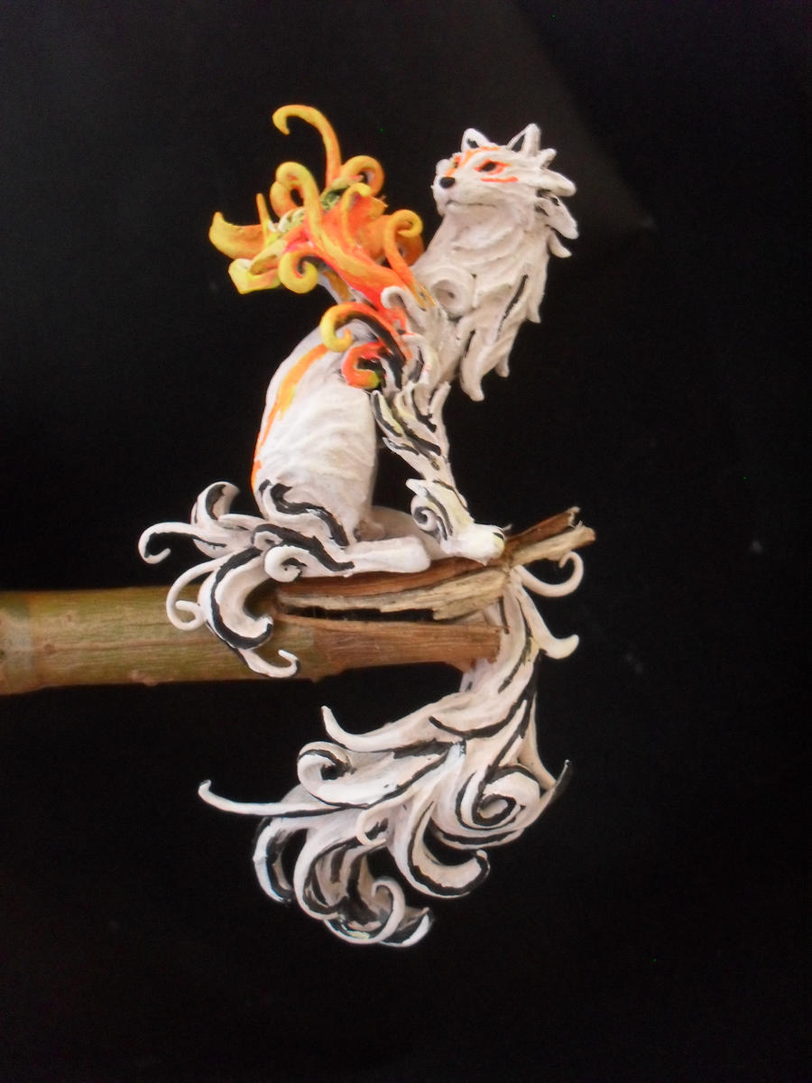 okami amaterasu painted by JOPUTAPELIRROJO
