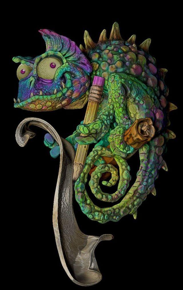 Chamaleon 3D by JOPUTAPELIRROJO