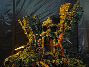 He Man and Skeletor painted