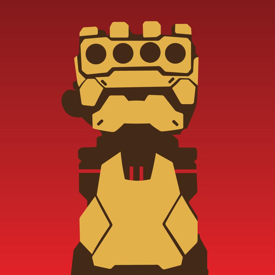 Overwatch - Gauntlet [Player Icon] by YoshinoYoshie