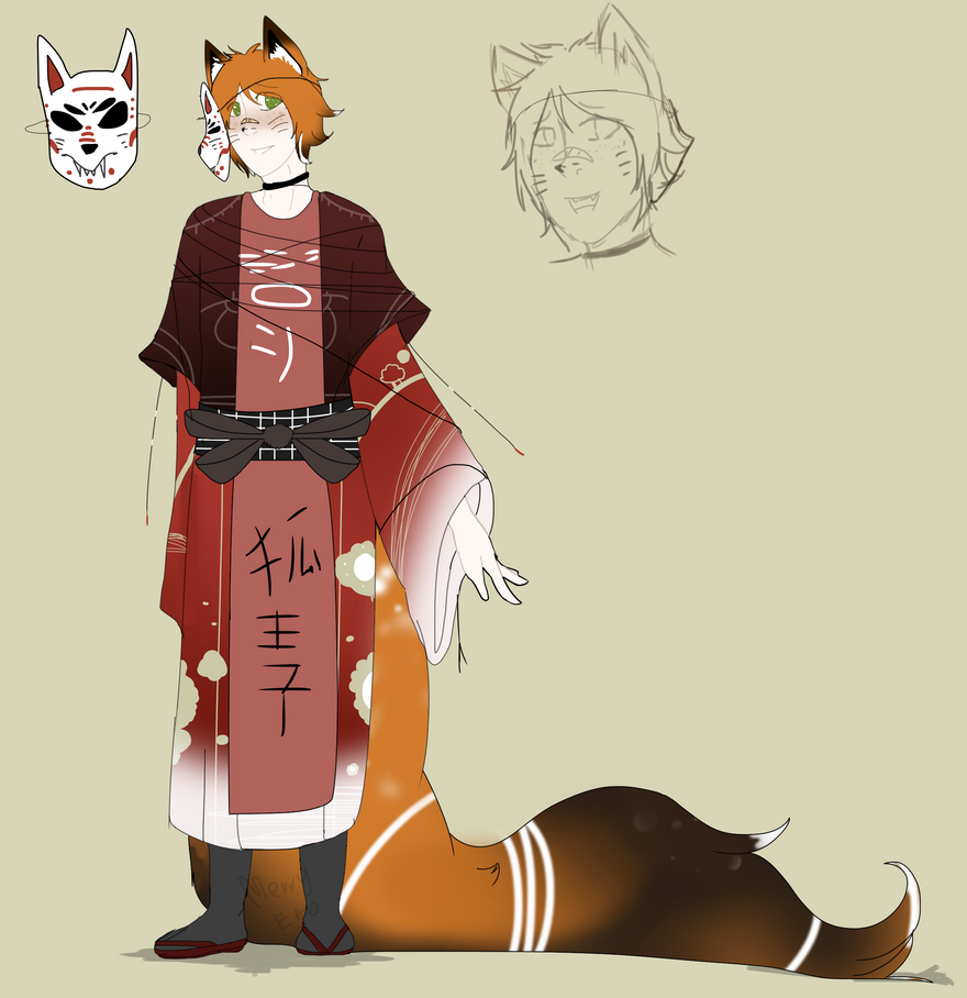 -Custom #1- Kimono Little Fox by Mexican-cyborg
