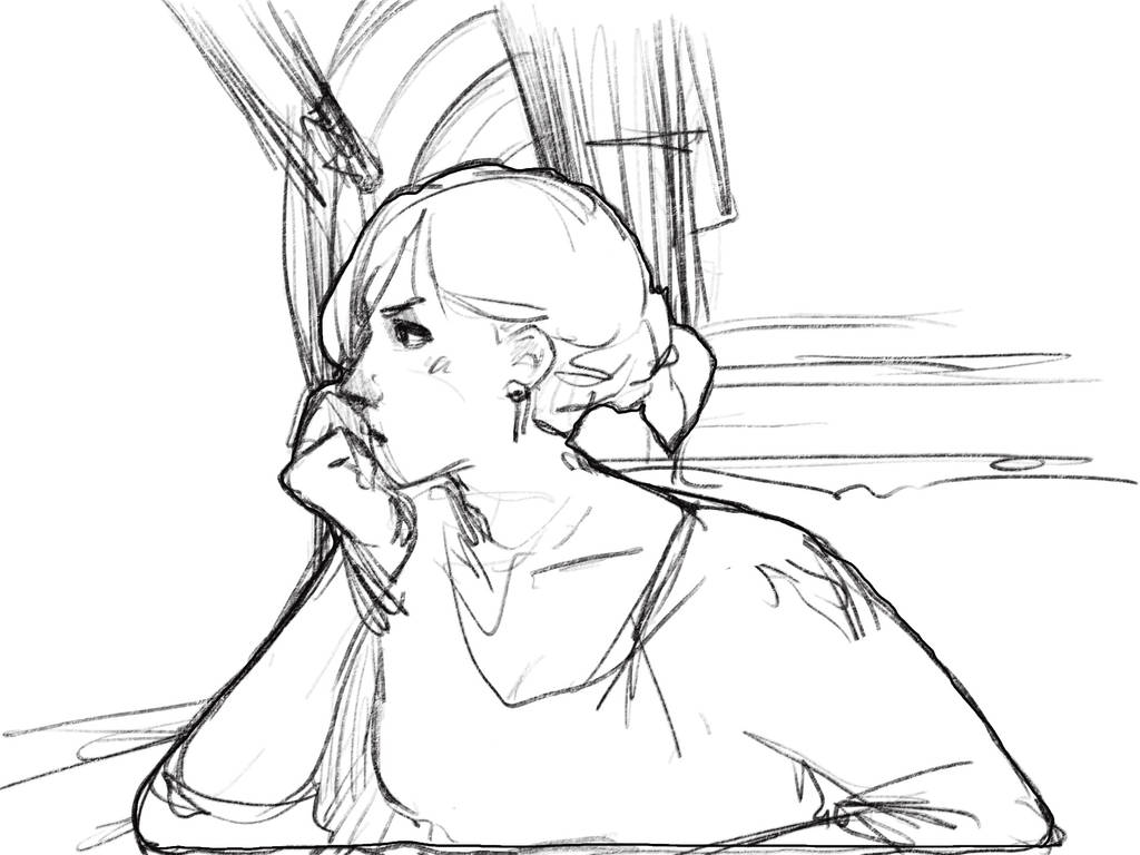 In train by sketching101