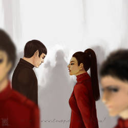 Spock and Niota talking by Lenap