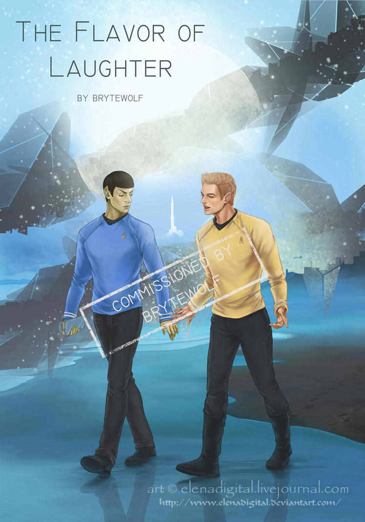 Jim and Spock comm for brytewolf by Lenap