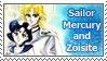 Sailor Mercury and Zoisite Stamp by SvetlankaArt