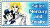 Sailor Mercury and Zoisite Stamp by SvetlankaArt