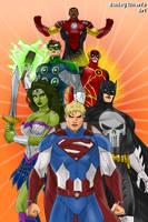 Justice League of Marvel by AshleyWharfe