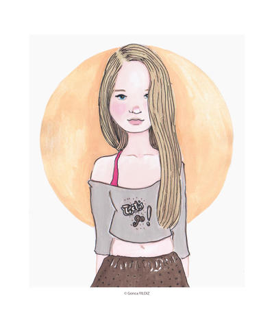 yellow haired girl by geluu