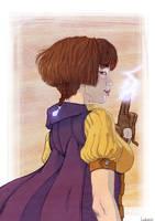 2nd price Illustration contest : Lightningale by Ludimie