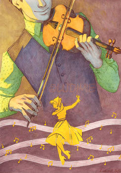 1st Price Illustration Contest : The violonist
