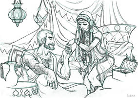 One Thousand and One Nights : sketch by Ludimie