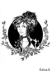 The grumpy girl by Ludimie