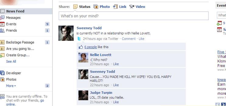 Sweeney's Relationship Status by TwilightandFOB