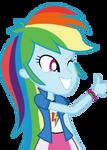 Mlp EqG 3 rainbow dash (thumb) vector