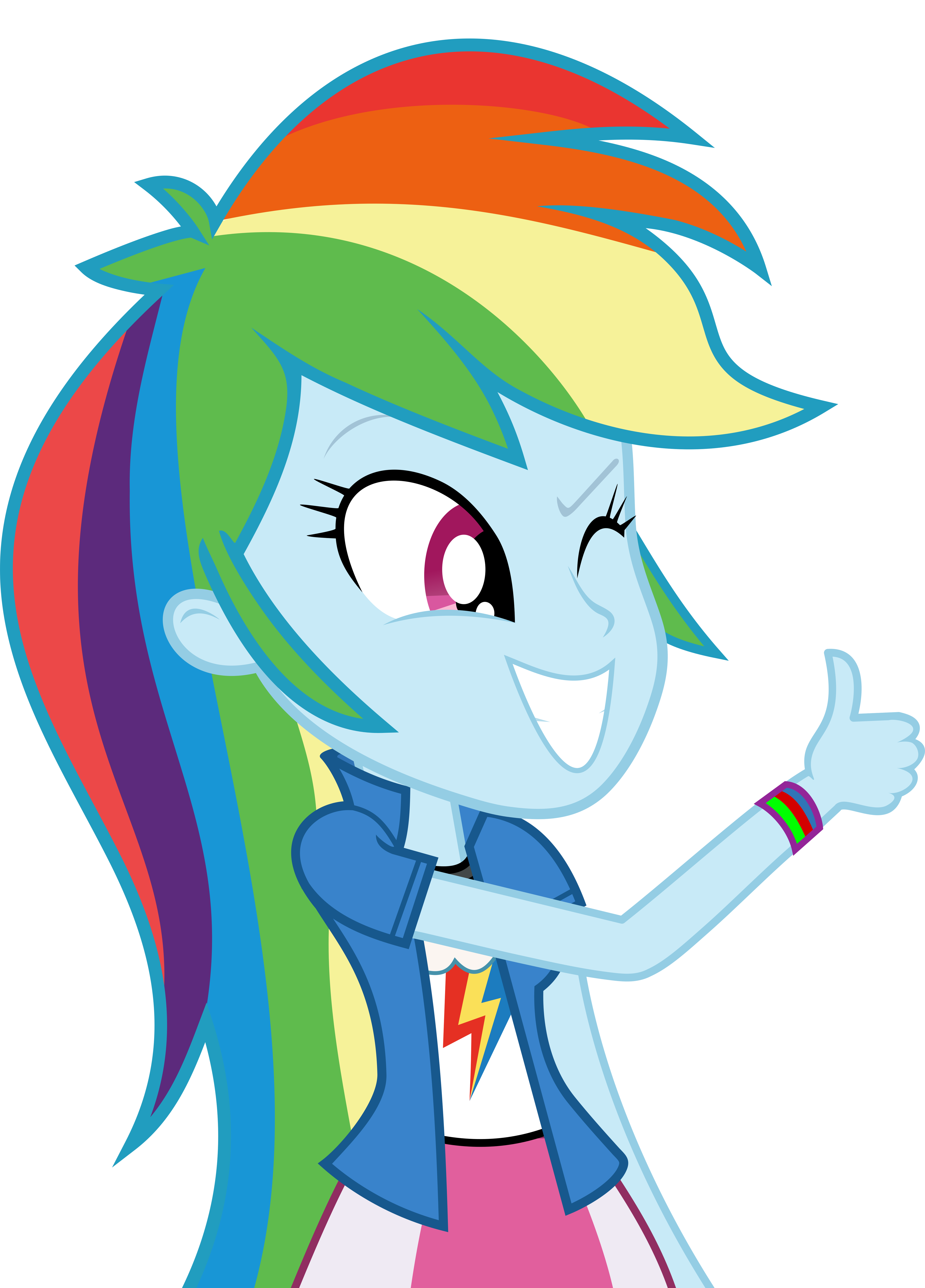Mlp Fim Rainbow Dash (wow) Vector by luckreza8 on DeviantArt