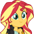 sunset shimmer EqG 3 (happy) plz by luckreza8