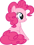 Mlp Fim pinkie pie (sitting) vector