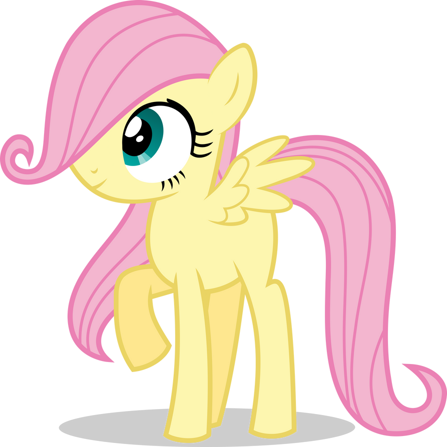 Mlp Fim filly fluttershy (hmm...) vector by luckreza8 on ...