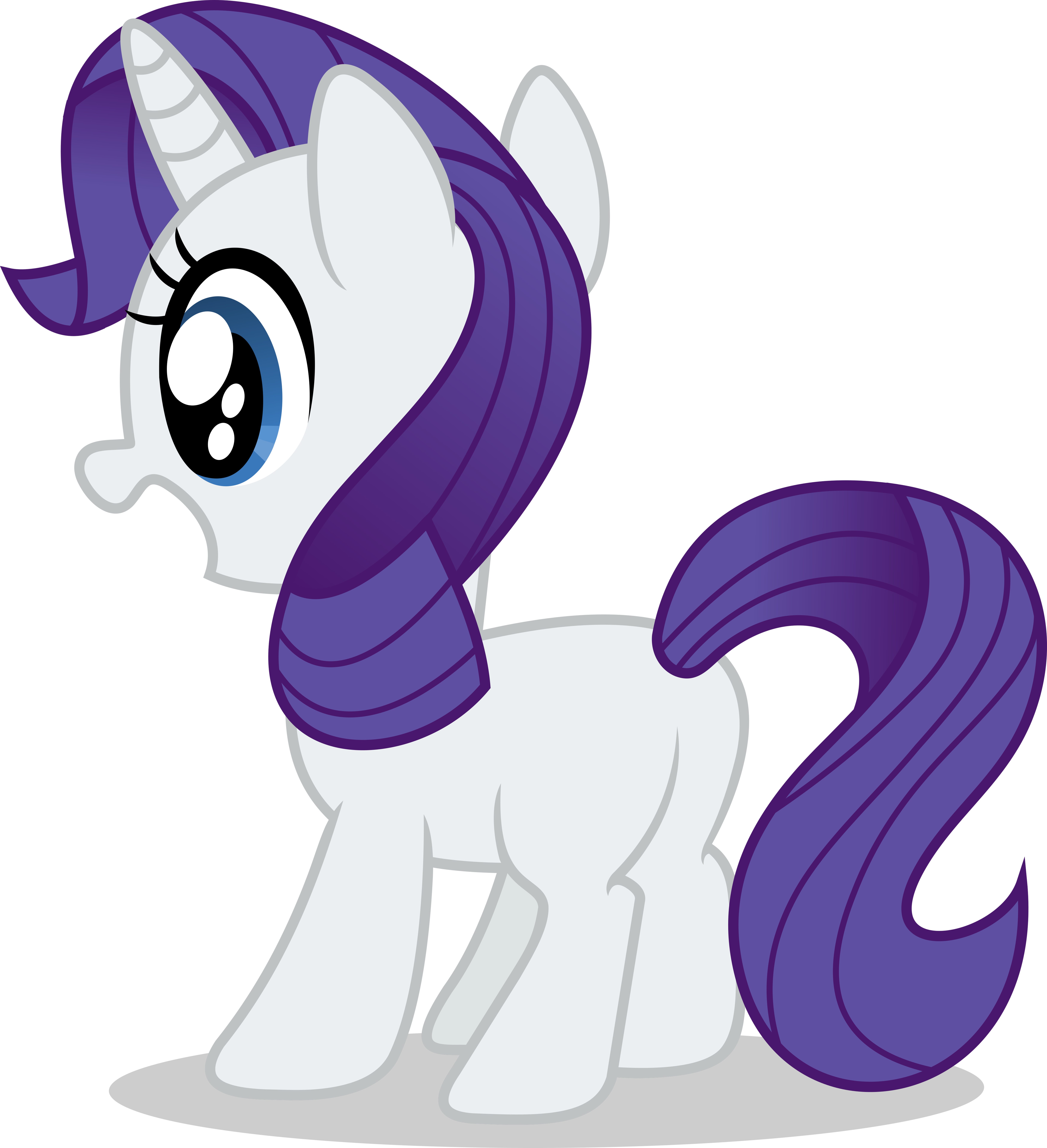 My little pony filly rarity - photo#12
