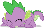 Mlp Fim spike dragon (kiss in floor) vector