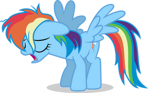 Mlp Fim rainbow dash (uh) Vector by luckreza8