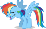 Mlp Fim rainbow dash (uh) Vector