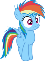 Mlp Fim filly rainbow dash (hey) vector by luckreza8