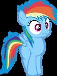 Mlp Fim filly rainbow dash (hey) vector