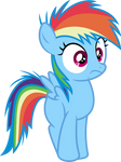 Mlp Fim filly rainbow dash (hey) vector