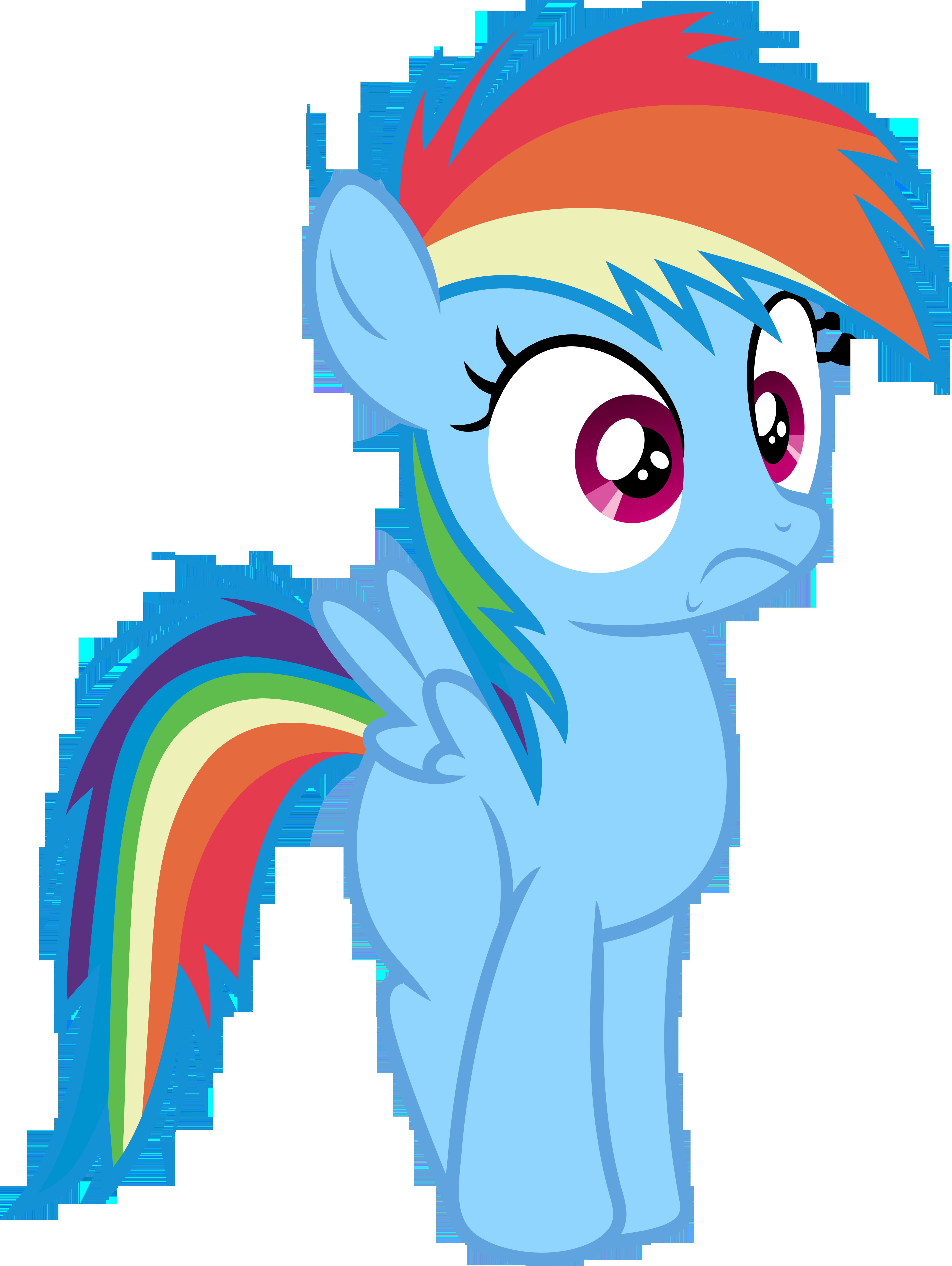 Mlp Fim filly rainbow dash (hey) vector by luckreza8 on ...