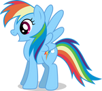 Mlp Fim Rainbow Dash (happy) Vector