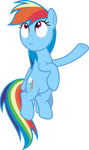 Mlp Fim Rainbow Dash (hmm...) Vector