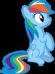 Mlp Fim Rainbow Dash (...) Vector
