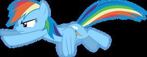 Mlp Fim Rainbow Dash (fly) Vector